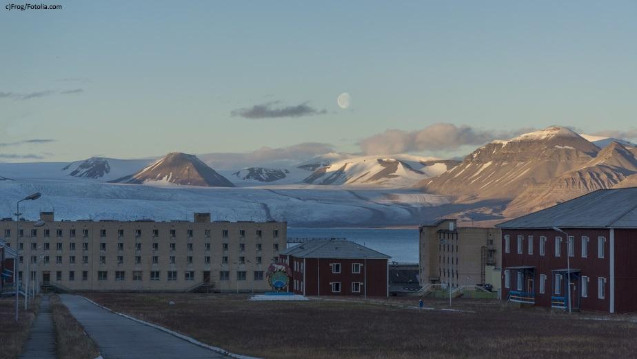 Pyramiden settlement at Svalbard, Spitzbergen